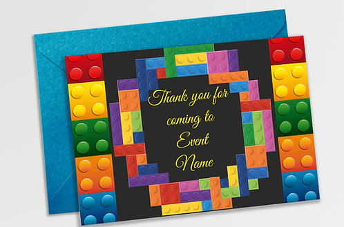 Customized Blocks Theme Thank You Cards (PS TCard 03)
