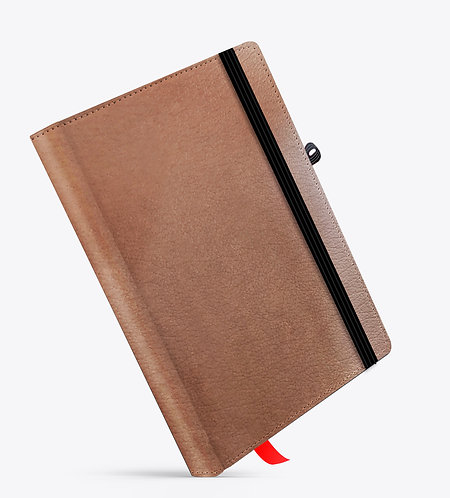 Brown Cloud Tan Basic Leather NoteBook / Diary