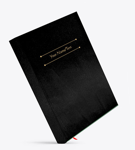 Personalized Satin Cover Notebook / Diary (NBSatin Black 01)