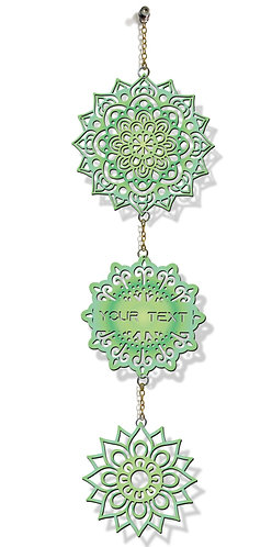Customized Laser-Cut Wooden WALL HANGING (Green 07)