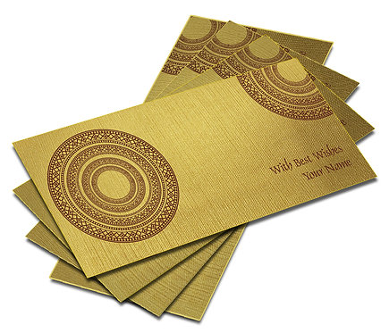 Shagun Envelope on Gold Textured paper(Pack of 10) SEGOLD 008