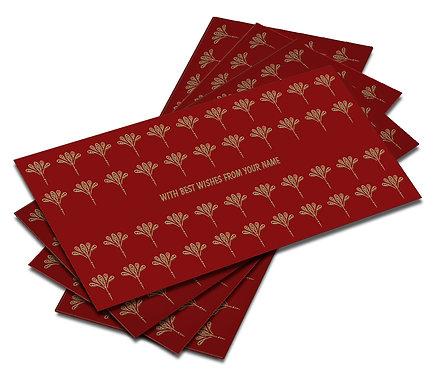 Shagun Envelope on Red Velvet paper(Pack of 10) SEVLVT 005