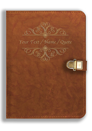 Personalized Leather NoteBook / Diary with Metal Lock (NBLOCK 015)