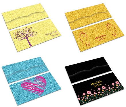 copy of Customized Shagun Envelope on GLITTER paper