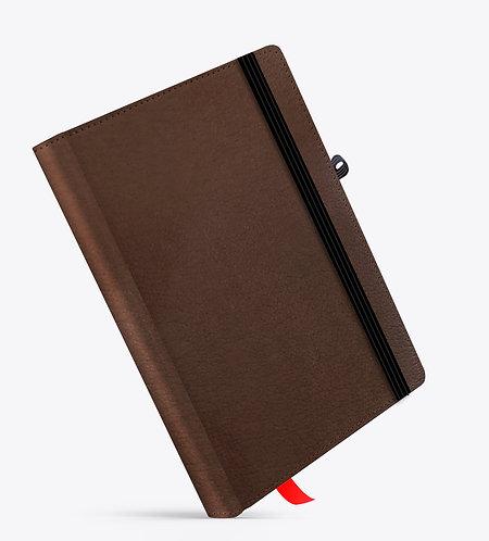 Brown Cloud Dark Brown Basic Leather NoteBook / Diary
