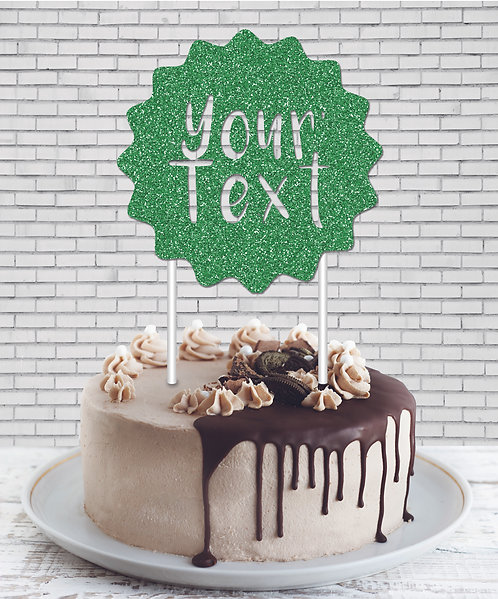 Cake Topper (CT Green 01)