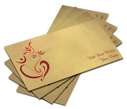Shagun Envelope on Gold Satin paper(Pack of 10) SESATIN GOLD 004