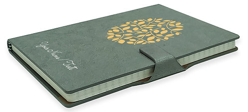 Personalized Hardbound NoteBook / Diary with MAGNETIC Lock (NB Gray Mag 006)