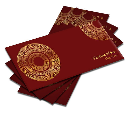 Shagun Envelopes - Golden Foil (Pack of 10)