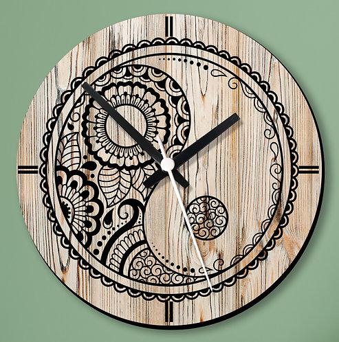 Wooden Printed Wall Clock (06)