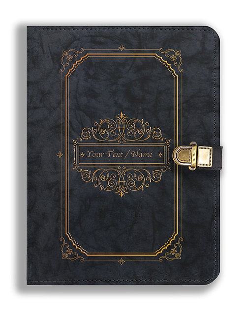 Personalized Leather NoteBook / Diary with Metal Lock (NBLOCK 006)