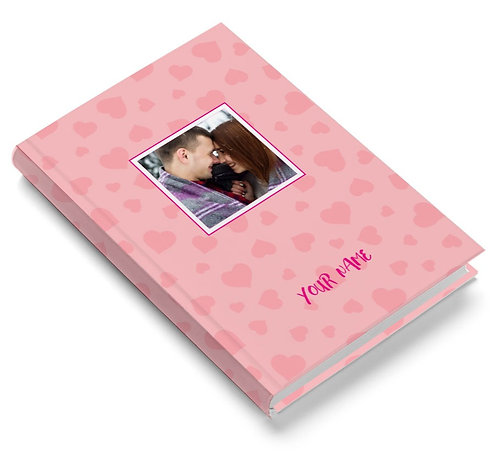 Personalized Pasted Board Notebook / Diary (NBHB 054)