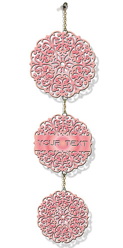 Customized Laser-Cut Wooden WALL HANGING (Pink 08)