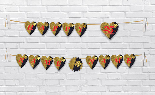 Anniversary Bunting Banners (AnBBan 33)