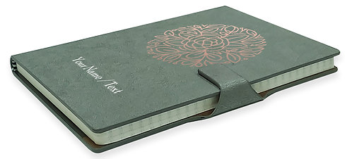 Personalized Hardbound NoteBook / Diary with MAGNETIC Lock (NB Gray Mag 005)