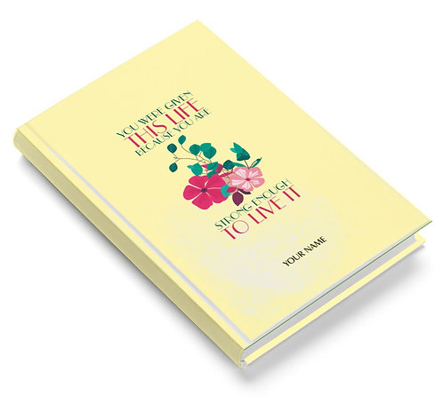 Personalized Pasted Board Notebook / Diary (NBHB 049)