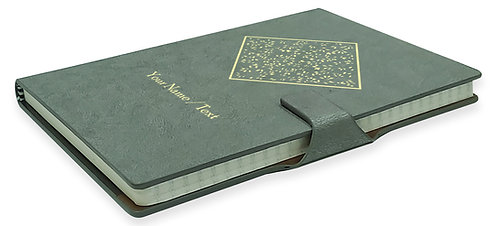Personalized Hardbound NoteBook / Diary with MAGNETIC Lock (NB Gray Mag 004)
