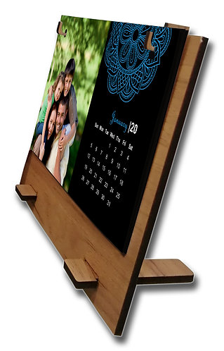 Personalized Table Calendar on MDF Stand (DCal MDF L 01)
