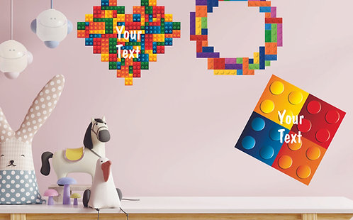 Customized Blocks Theme CUT-OUT Posters (PS Cut-out Pos 03)