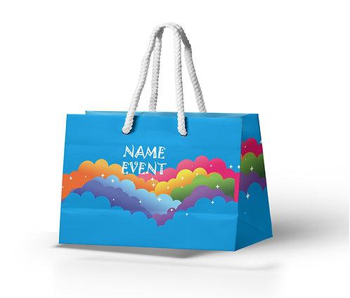 Customized Rainbow Theme Paper Bags (PS Bag B 05)