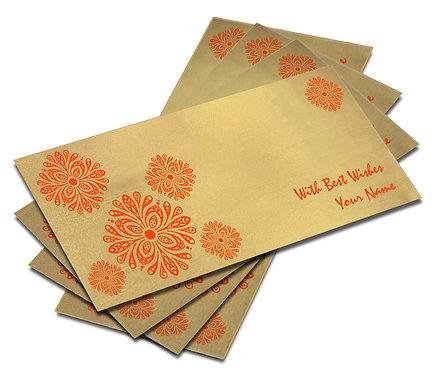 Shagun Envelope on Gold Satin paper(Pack of 10) SESATIN GOLD 006