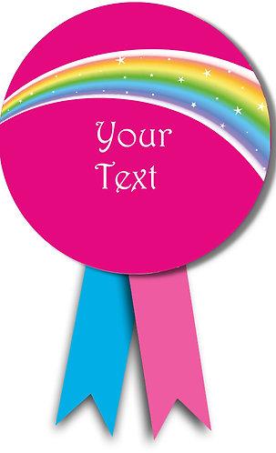 Customized Rainbow Theme Badges (PS Ani Badge 05)
