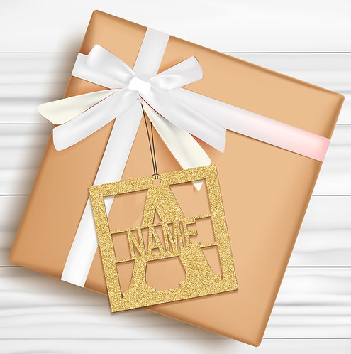Gift Tags (Pack of 4 / 10)  (GT GOLD GLTR 04)