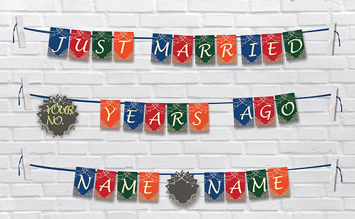 Anniversary Bunting Banners (AnBBan 31)