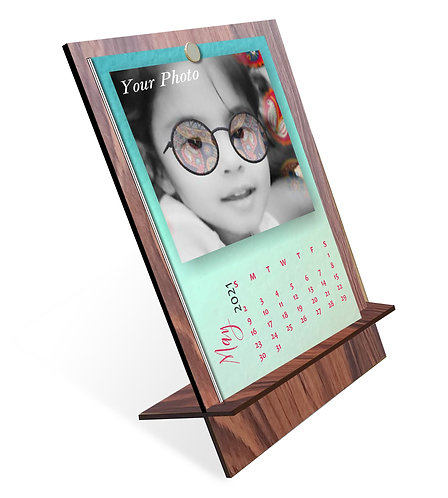 Personalized Table Calendar on MDF Stand (DCal MDF P 03)