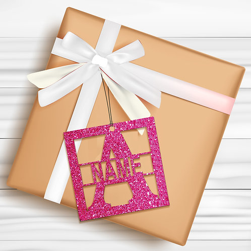 Gift Tags (Pack of 4 / 10)  (GT PINK GLTR 04)