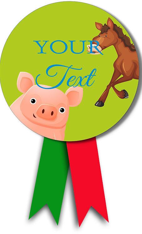 Customized Farm Animal Theme Badges (PS Ani Badge 02)