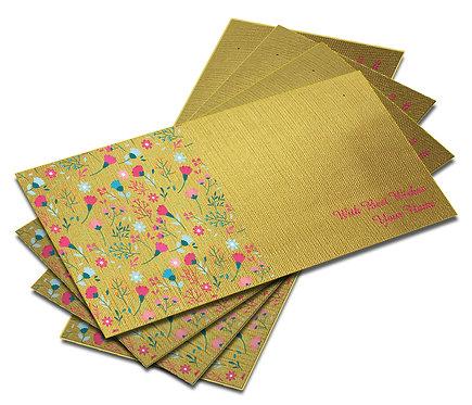 Shagun Envelope on Gold Textured paper(Pack of 10) SEGOLD 007