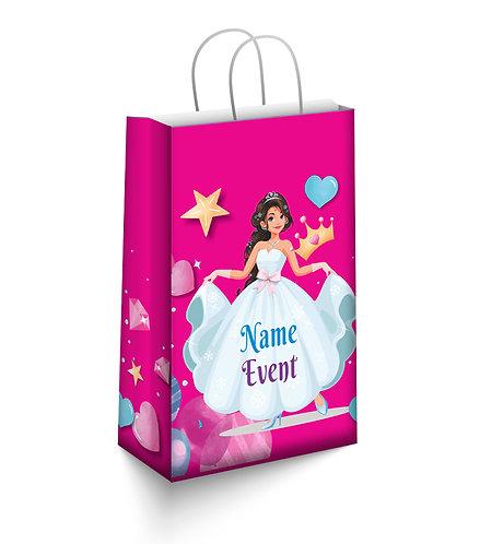 Customized Princess Theme Paper Bags (PS Bag S 04)