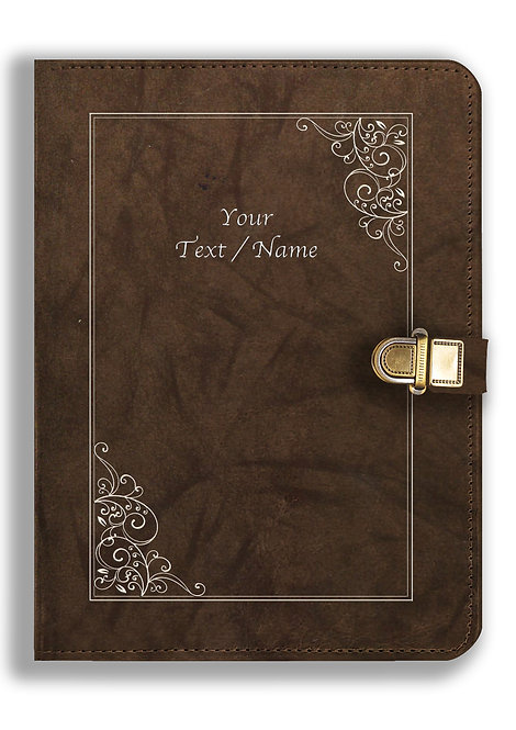 Personalized Leather NoteBook / Diary with Metal Lock (NBLOCK 028)