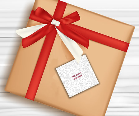Gift Tags (Pack of 30 / 60)  (GT 13)