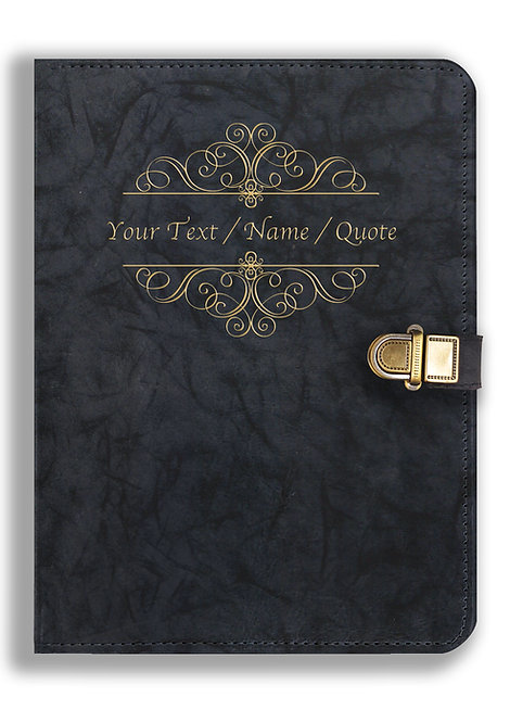 Personalized Leather NoteBook / Diary with Metal Lock (NBLOCK 005)