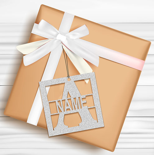 Gift Tags (Pack of 4 / 10)  (GT SLVR GLTR 04)