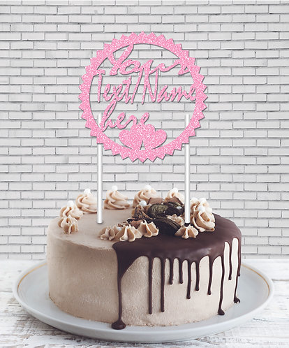 Cake Topper (CT Baby Pink 04)