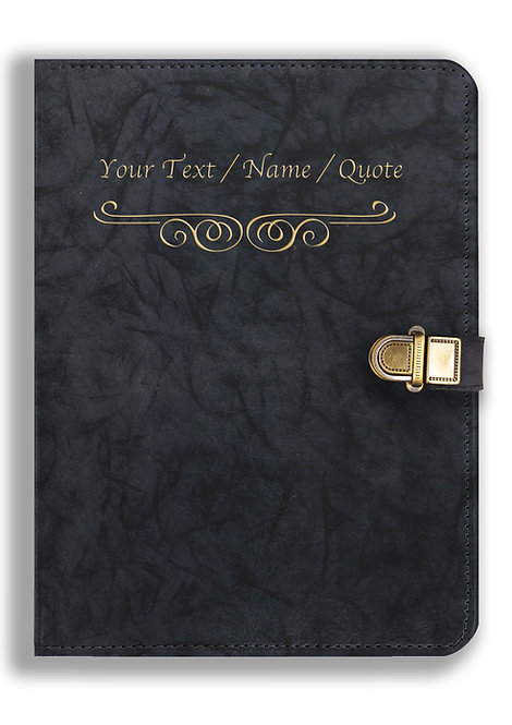 Personalized Leather NoteBook / Diary with Metal Lock (NBLOCK 010)