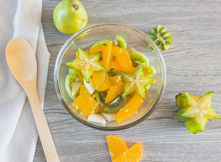 Salade de fruits au kombucha