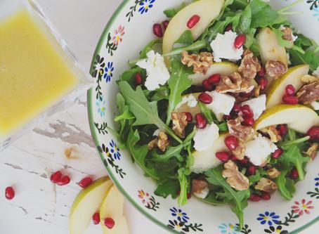 Salade et Vinaigrette de chèvre et kombucha
