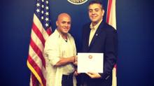 Johnny Arraiz reconocido por el Congreso de los Estados Unidos
