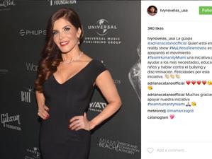 TV y Novelas apoya a Adriana Cataño en su Movimiento #TeamHumanityMiami