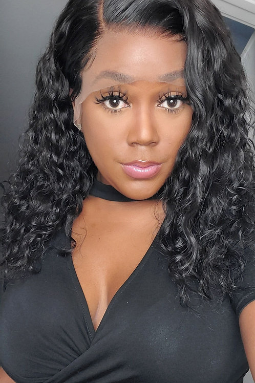 Lace Frontal Loose Curly Long Bob 16""