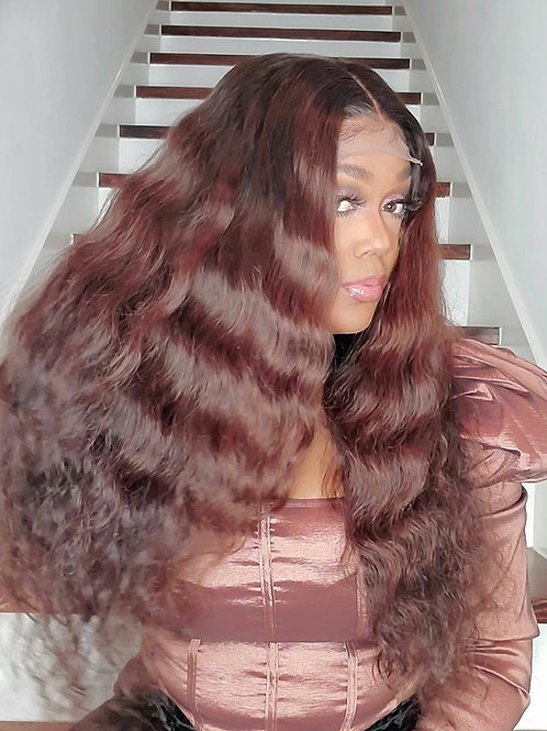 Chestnut Brown Loose Wave Closure Unit 26""