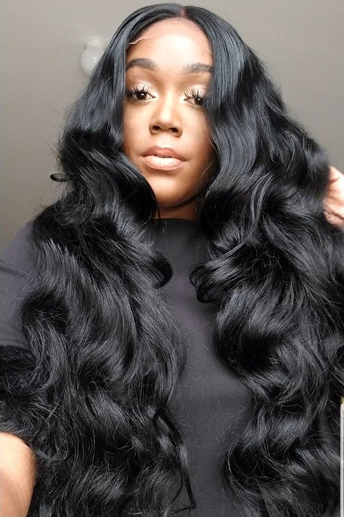 The Jet Black Wavy Closure Unit