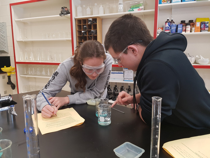 NEW SCIENCE LAB IN ACTION