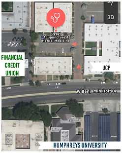 Bird's Eye View Map of Clinic Location