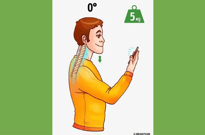 obciążenie szyi podczas używania smartfona