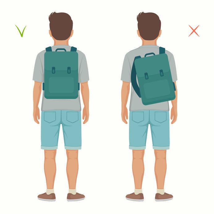 jak nosić plecak